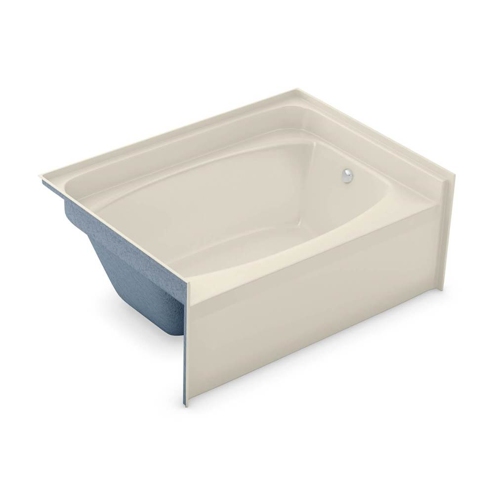 Aker GT-4260 60 in. x 40.5 in. Rectangular Alcove Bathtub with Right Drain in Bone