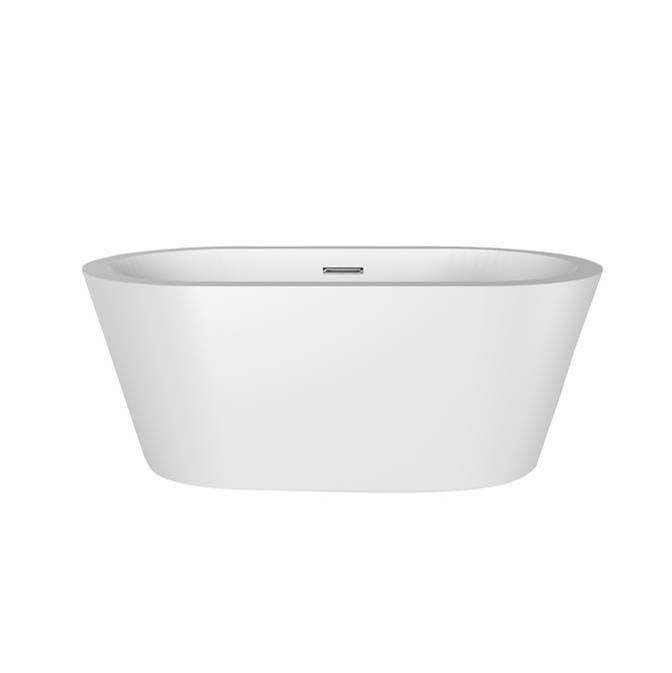 Barclay Pelham 65'' Freestanding AC WH Tub,W/Internal Drain & OF WH
