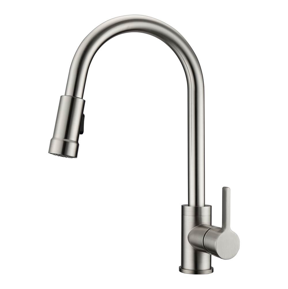 Barclay Firth Kitchen Faucet,Pull-outSpray, Metal Lever Handles,BN