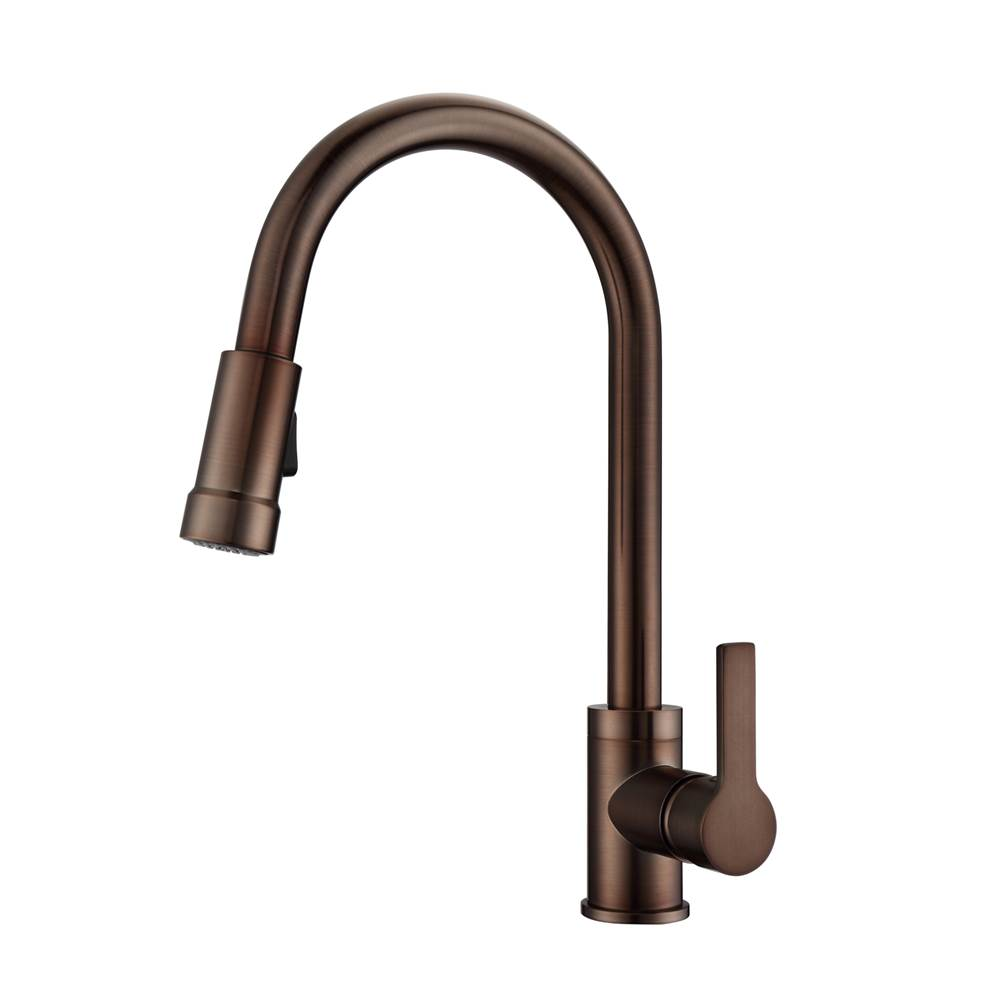 Barclay Firth Kitchen Faucet,Pull-outSpray, Metal Lever Handles,ORB