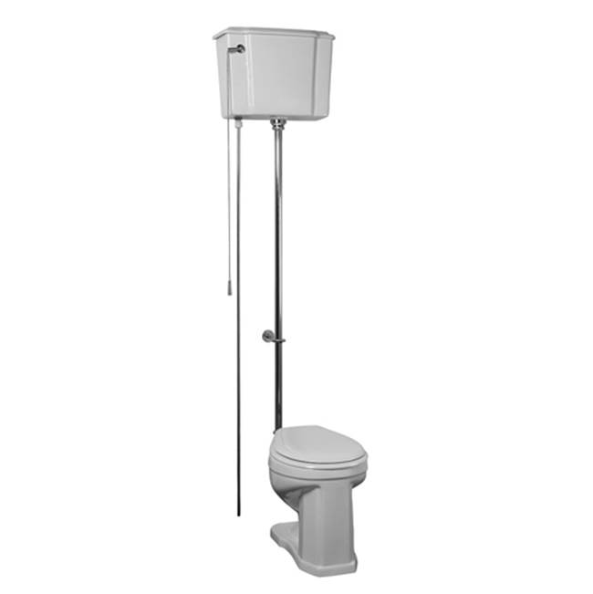 Barclay Victoria High Tank Toilet, 1.6GPF, White/Polished Nickl Trim