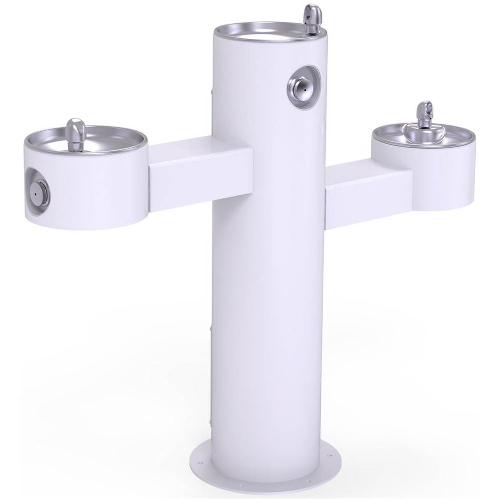 Elkay Elkay Outdoor Fountain Tri-Level Pedestal Non-Filtered, Non-Refrigerated White