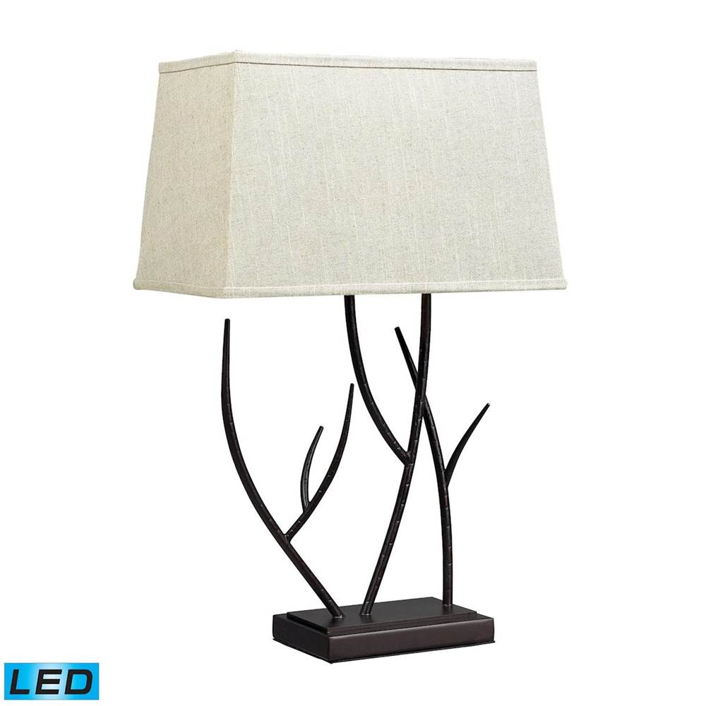Elk Home Winter Harbour Hammered Iron Led Table Lamp In Bronze