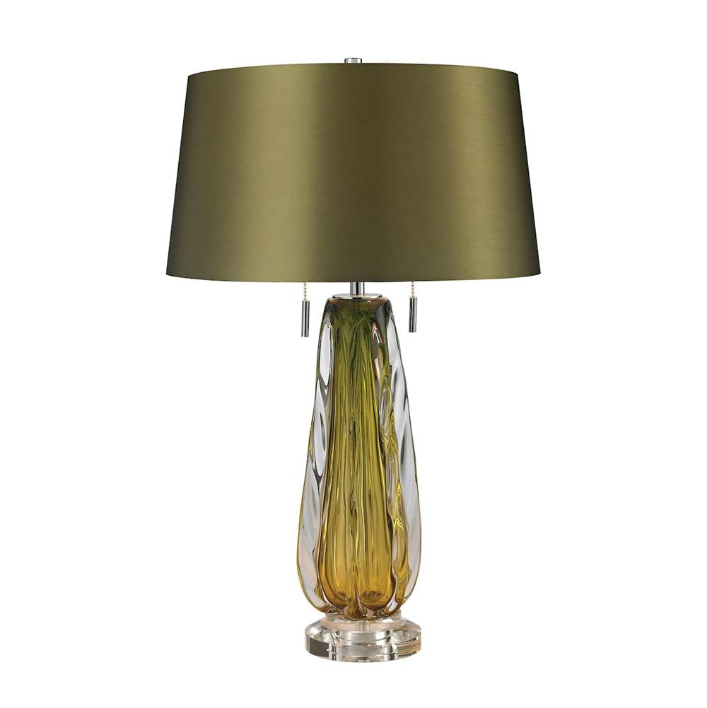 Elk Home Free Blown Glass Table Lamp In Green