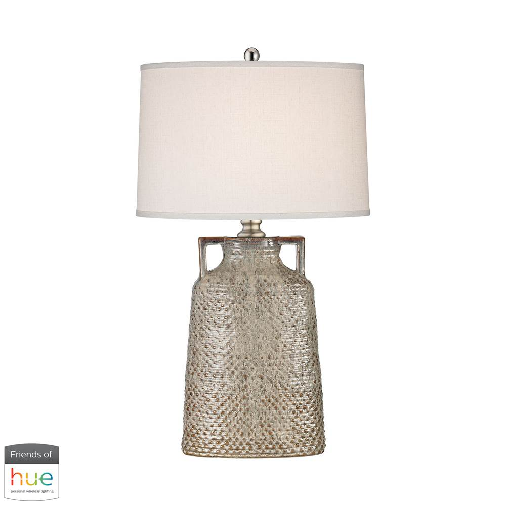 Elk Home Naxos Table Lamp In Charring Cream Glaze - With Philips Hue Led Bulb/Dimmer