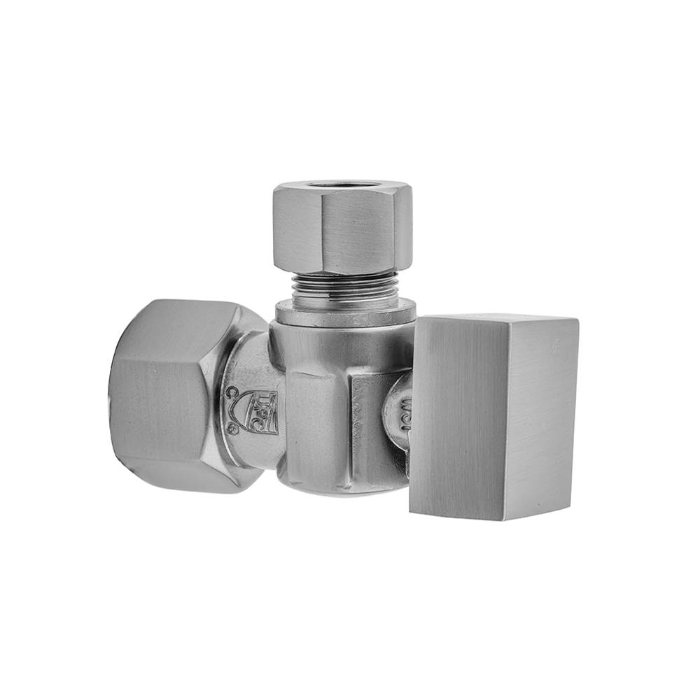 Jaclo Quarter Turn Angle Pattern 1/2'' IPS x 3/8'' O.D. Supply Valve with Square Handle