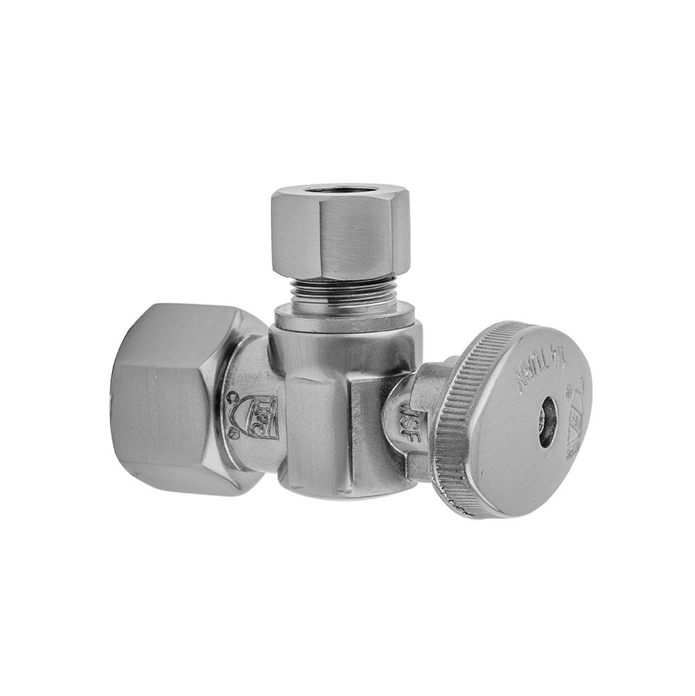 Jaclo Quarter Turn Angle Pattern 1/2'' IPS x 3/8'' O.D. Supply Valve with Oval Handle