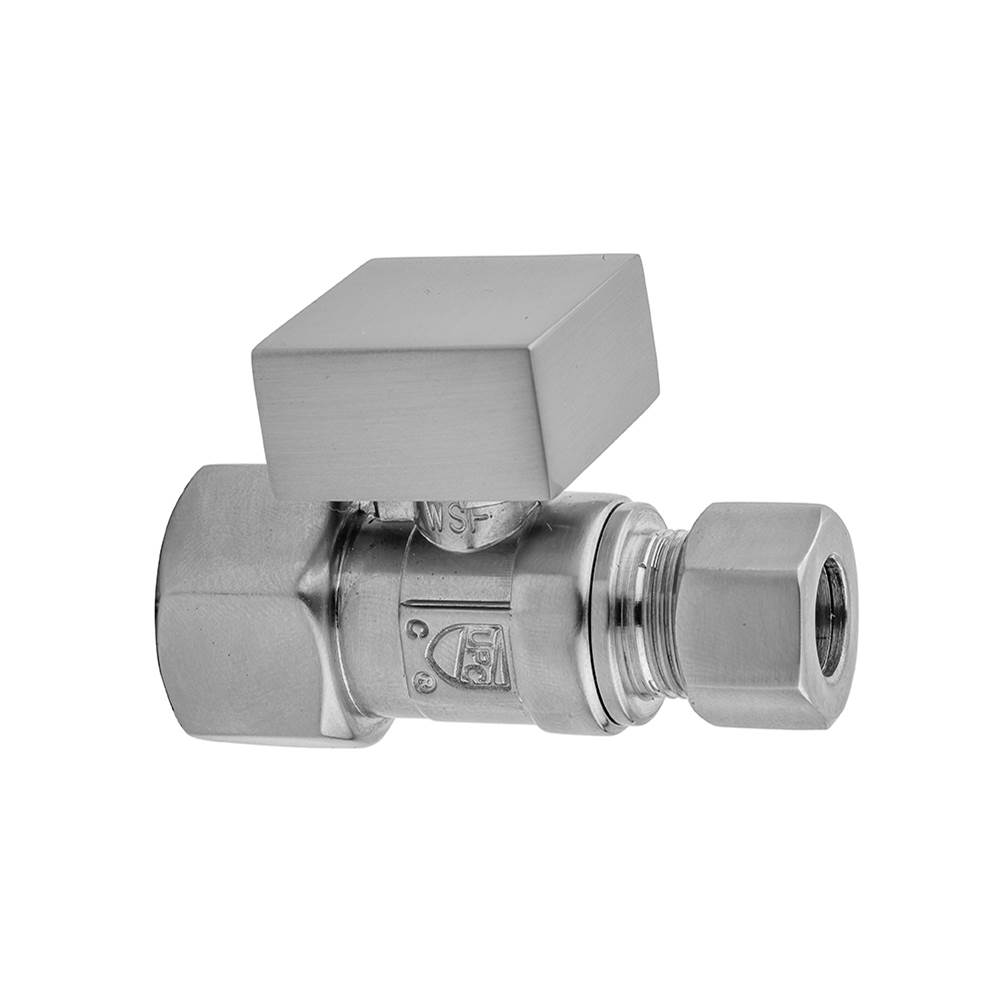 Jaclo Quarter Turn Straight Pattern 1/2'' IPS x 3/8'' O.D. Supply Valve with Square Handle
