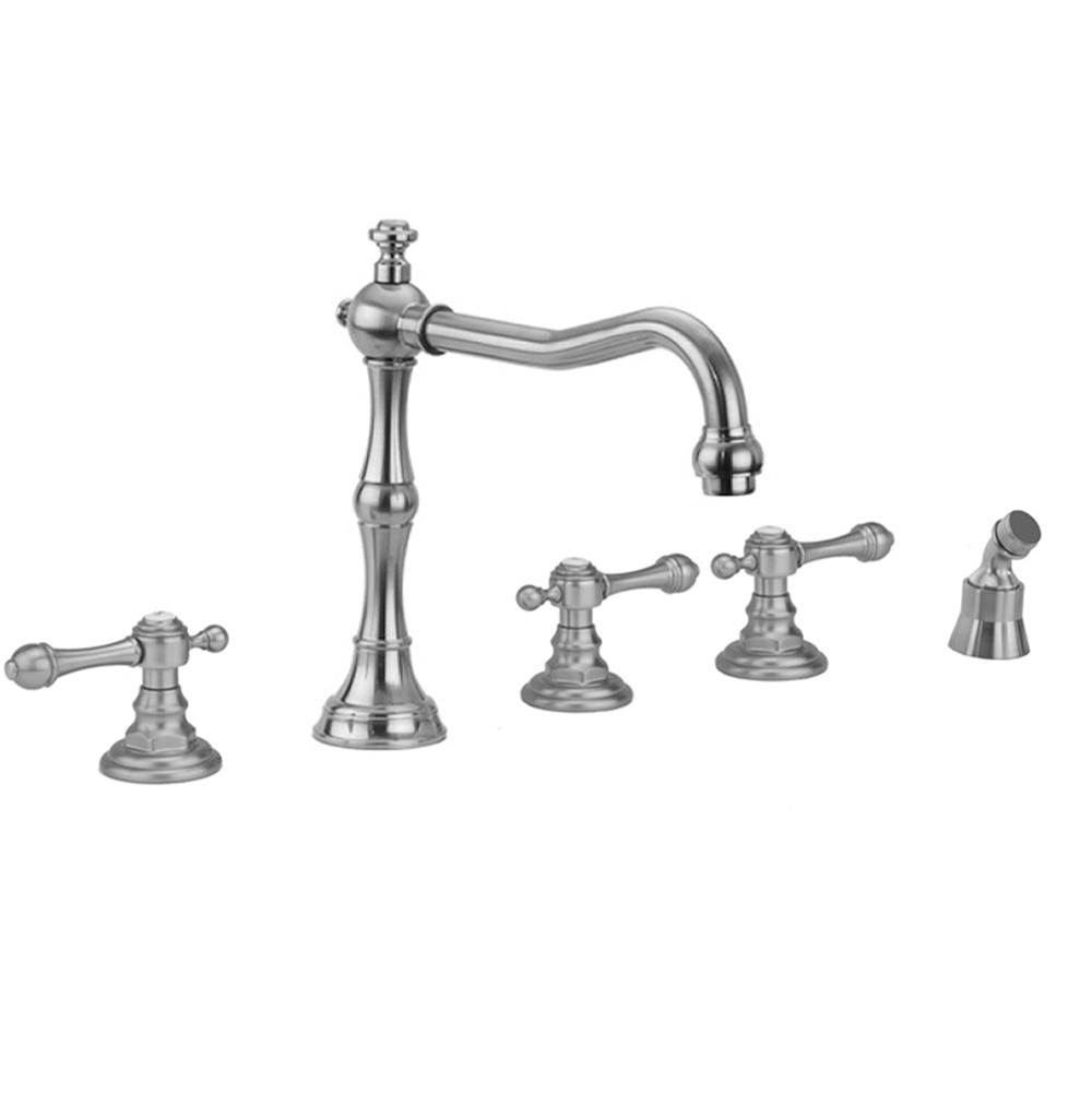 Jaclo Roaring 20''s Roman Tub Set with Majesty Lever Handles and Angled Handshower Mount