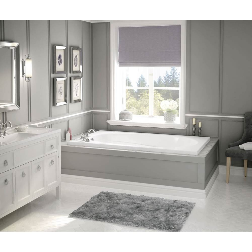Maax Talisman 71.375 in. x 42 in. Drop-in Bathtub with Aeroeffect System End Drain in White