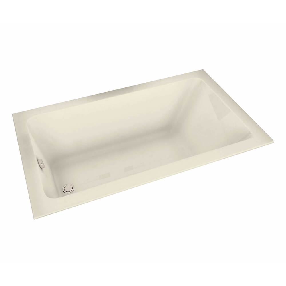 Maax Pose 66.25 in. x 35.75 in. Drop-in Bathtub with Aeroeffect System End Drain in Bone
