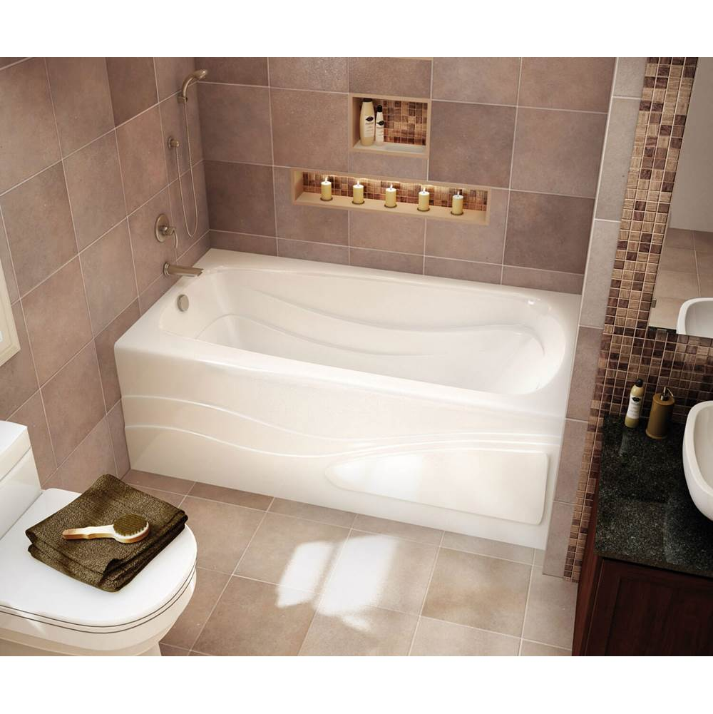 Maax Tenderness 65.875 in. x 35.75 in. Alcove Bathtub with Aeroeffect System Right Drain in White