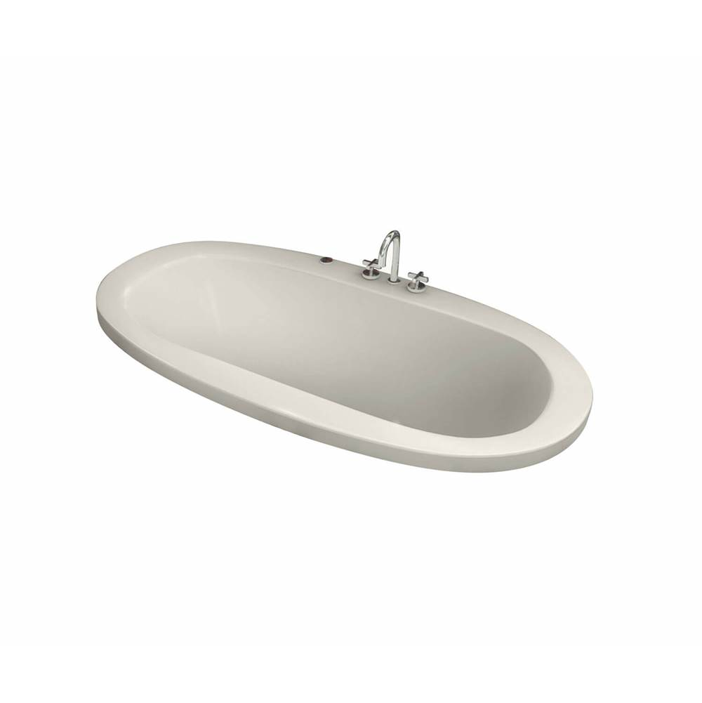 Maax Jazz 66 in. x 36 in. Drop-in Bathtub with Aerofeel System Center Drain in Biscuit