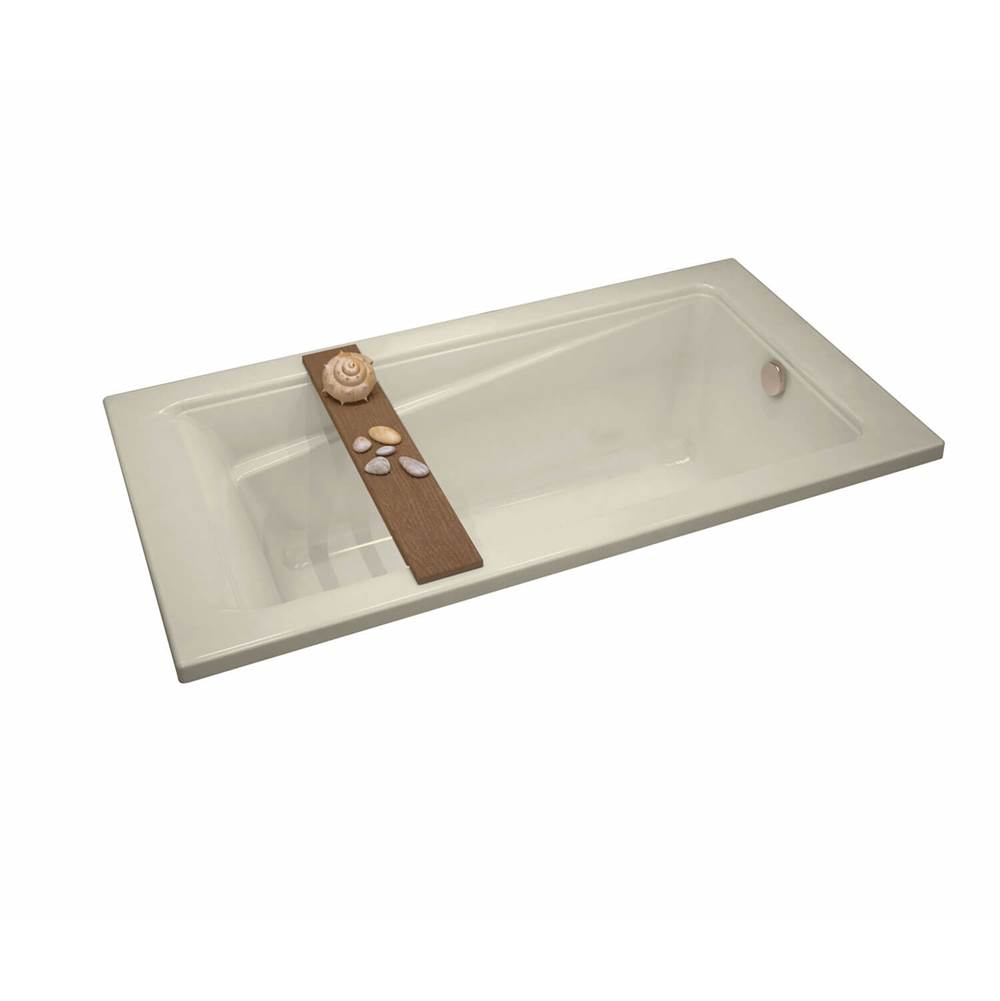 Maax Exhibit 59.875 in. x 36 in. Drop-in Bathtub with Whirlpool System End Drain in Bone
