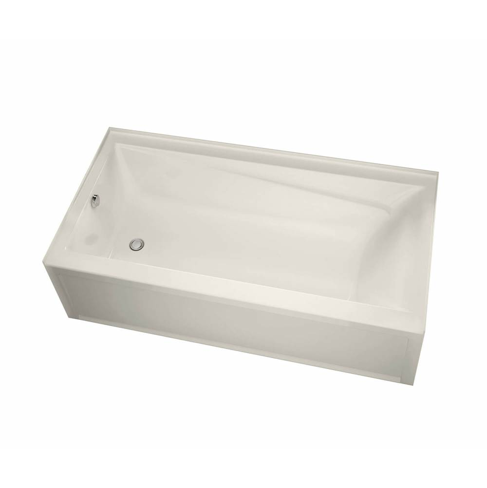 Maax Exhibit IFS 71.875 in. x 42 in. Alcove Bathtub with Aeroeffect System Right Drain in Biscuit