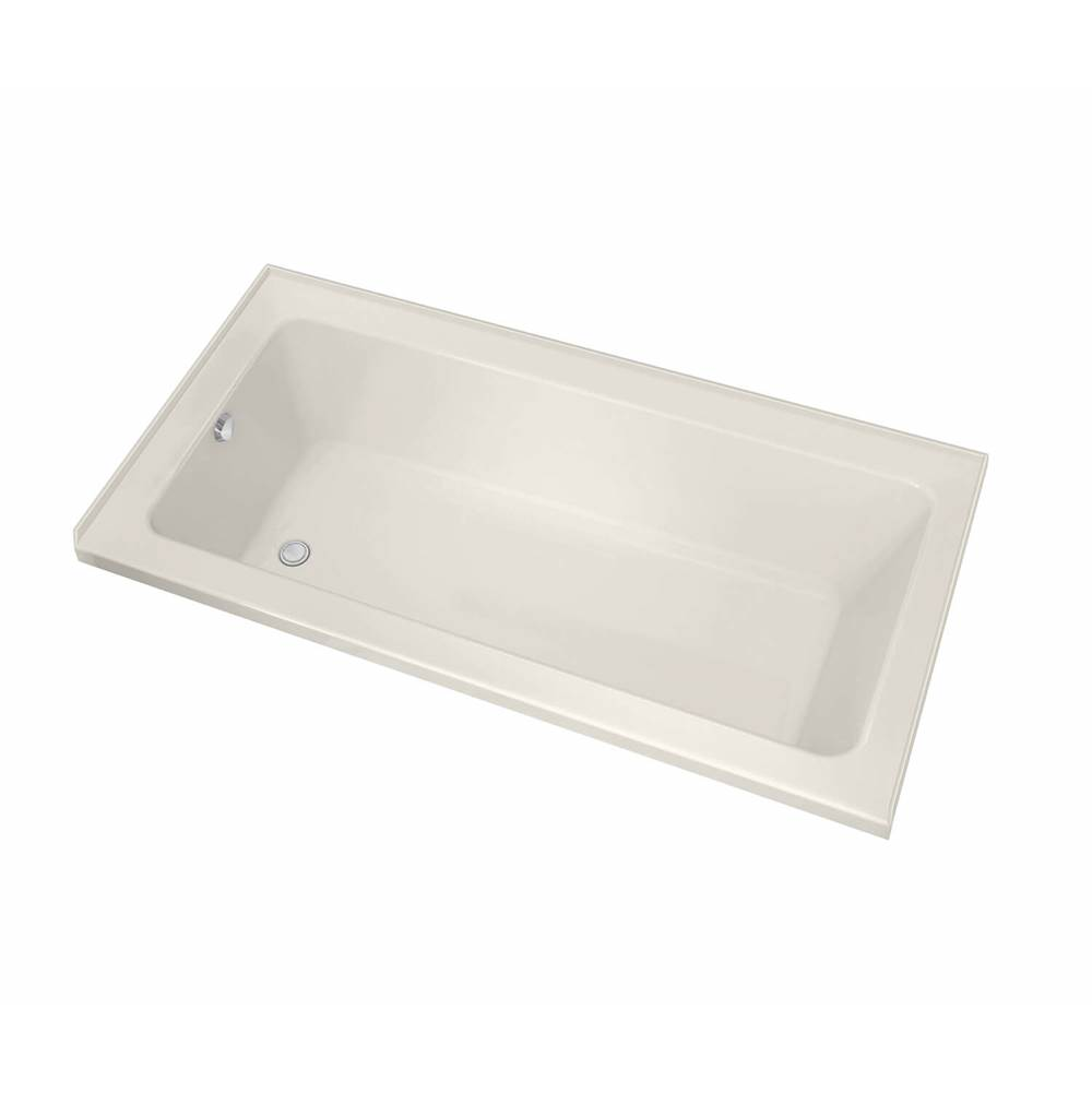 Maax Pose IF 59.625 in. x 29.875 in. Alcove Bathtub with Aeroeffect System Left Drain in Biscuit