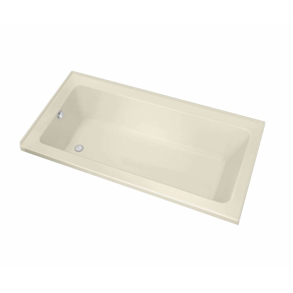 Maax Pose IF 59.625 in. x 31.625 in. Alcove Bathtub with Aeroeffect System Left Drain in Bone