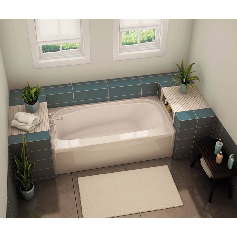 Maax TOF-3060 59.75 in. x 29.875 in. Alcove Bathtub with Left Drain in Sterling Silver