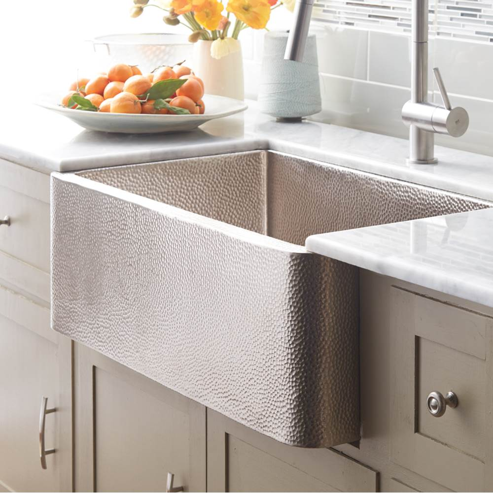 Native Trails Farmhouse 30 Kitchen SInk in Brushed Nickel