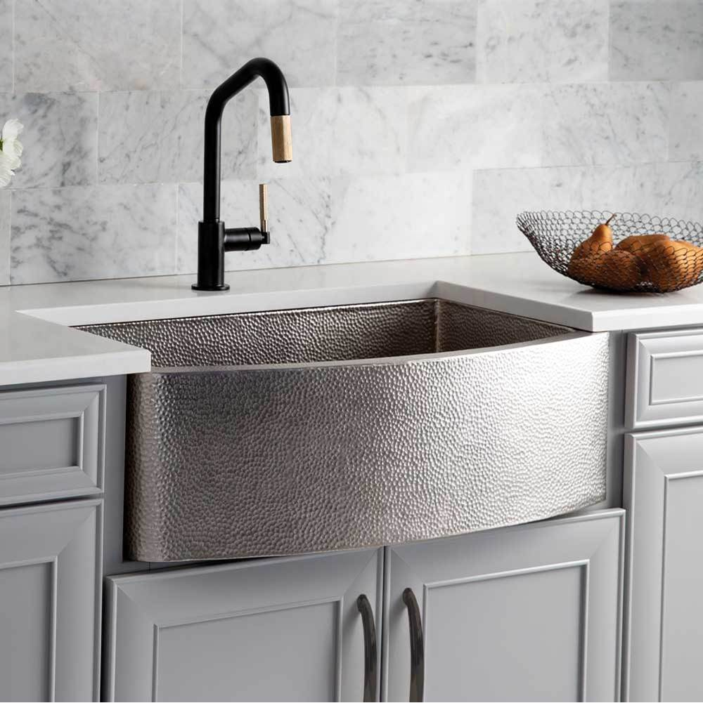 Native Trails Rhapsody Farmhouse Kitchen Sink in Brushed Nickel