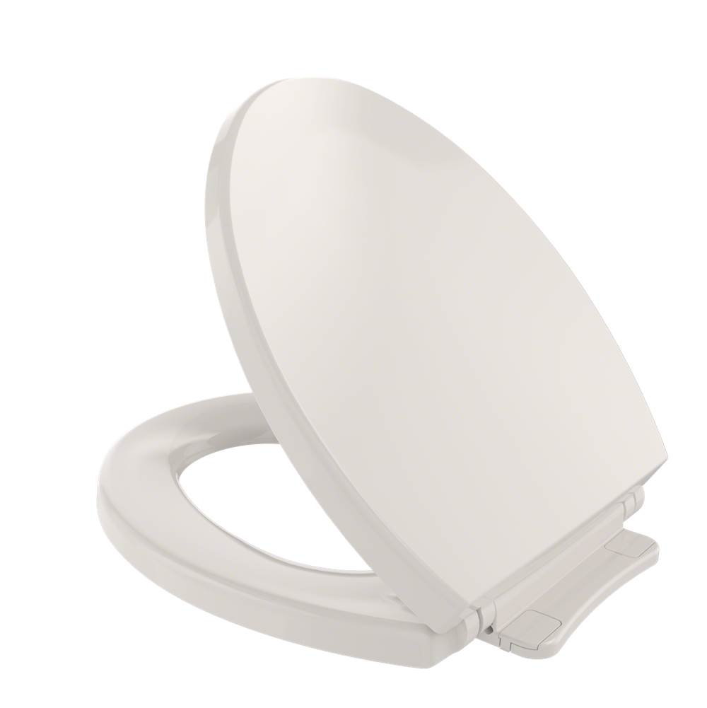 Toto SoftClose® Non Slamming, Slow Close Round Toilet Seat and Lid, Sedona Beige