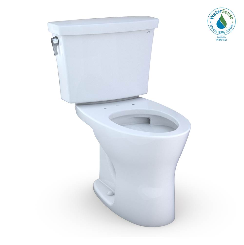 Toto Drake® Transitional Two-Piece EL Dual Flush 1.28,0.8 GPF Universal Height DYNAMAX TORNADO FLUSH® Toilet for 10 Inch Rough-In with CEFIONTEC