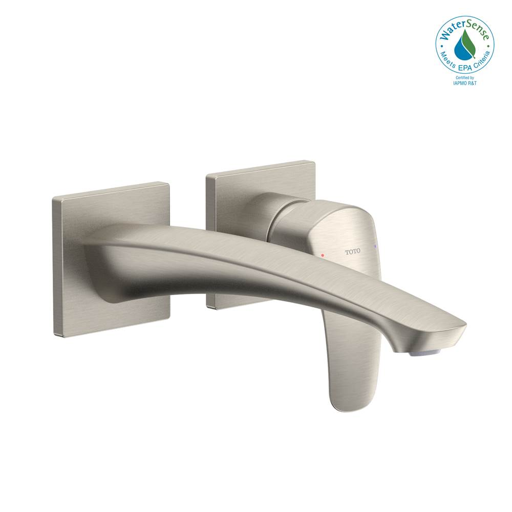 Toto GM 1.2 GPM Wall-Mount Single-Handle Long Bathroom Faucet with COMFORT GLIDE Technology, Brushed Nickel