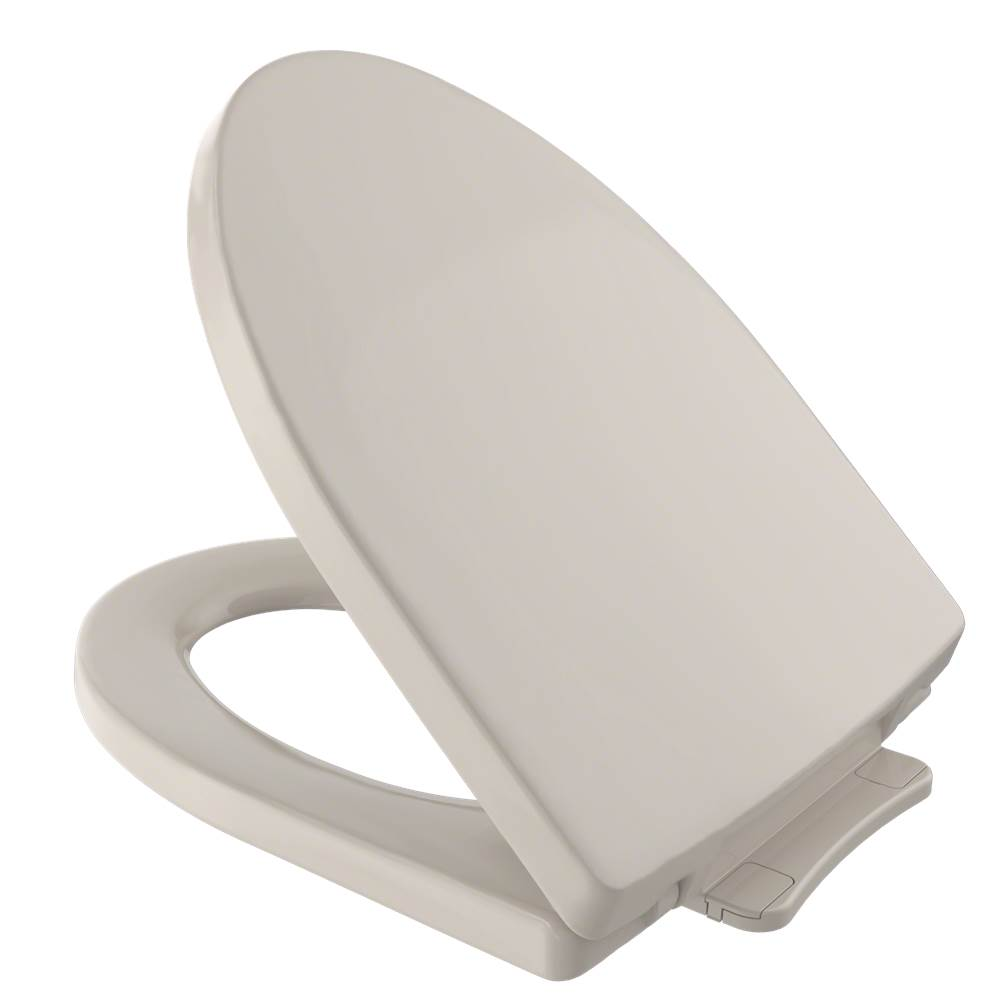 Toto Soiree® SoftClose® Non Slamming, Slow Close Elongated Toilet Seat and Lid, Bone