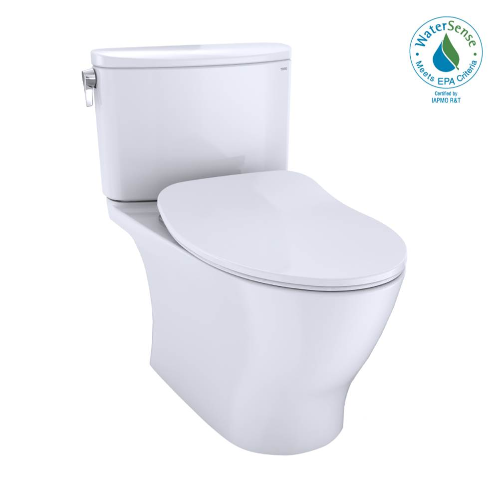 Toto Nexus® Two-Piece Elongated 1.28 GPF Universal Height Toilet with CEFIONTECT and SS234 SoftClose Seat, WASHLET+ Ready, Cotton White