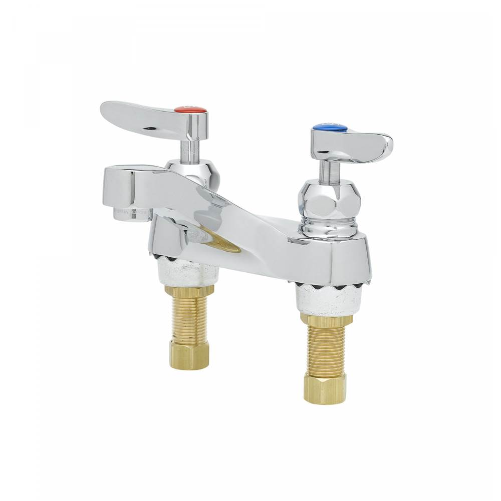 T&S Brass 4'' Centerset Mixing Fct, Ceramic Cartridges, B-0199-03 Male Aerator (2.2 GPM)